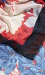 Floral Printed Lightweight Scarf Black/Red - Gallery Image 2