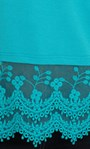 Lace Trim Sleeveless Jersey Top Turquoise - Gallery Image 3