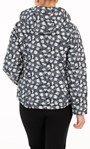 Anna Rose Floral Print Hooded Pack Away Coat Black/White - Gallery Image 2