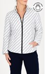 Anna Rose Printed Quilted Pack Away Jacket White/Black - Gallery Image 1