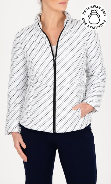 Anna Rose Printed Quilted Pack Away Jacket