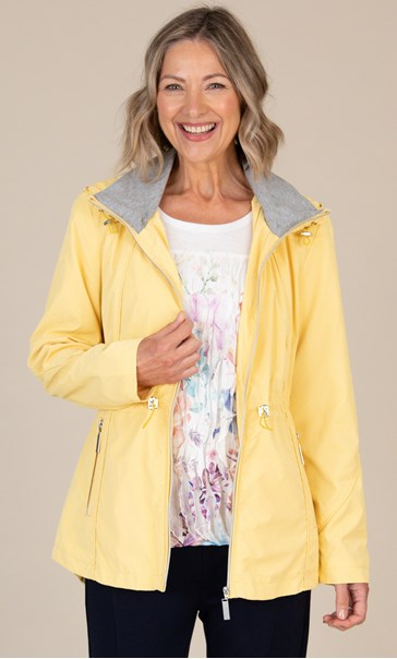 Anna Rose Hooded Zip Jacket Yellow