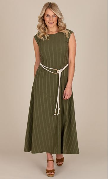 Sleeveless Textured Jersey Maxi Dress