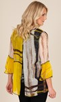 Printed Layered Georgette And Jersey Top Sunflower/Black - Gallery Image 2