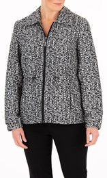 Anna Rose Jacquard Zip Jacket