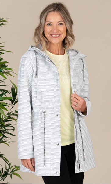 Anna Rose Striped Hooded Coat