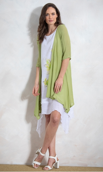 Crinkle Open Cover Up Lime