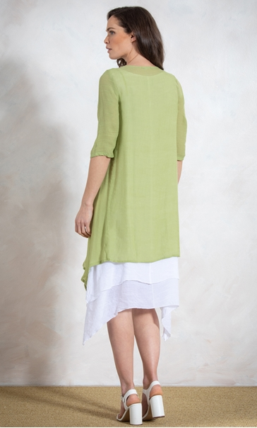 Crinkle Open Cover Up - Lime