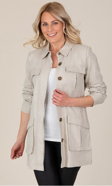 Belted Long Sleeve Jacket