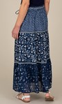 Anna Rose Pull On Printed Cotton Maxi Skirt Blue Multi - Gallery Image 4