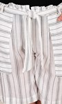 Striped Belted Shorts White/Black - Gallery Image 3