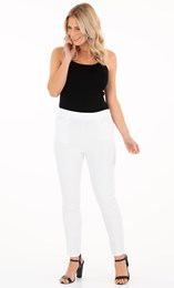 Fitted Full Length Stretch Trousers