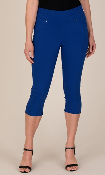 Cropped Stretch Trousers - Sapphire
