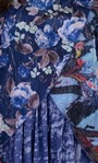 Floral Printed Layered Chiffon and Jersey Top Blue - Gallery Image 3