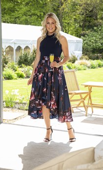Embellished Fit And Flare Maxi Dress