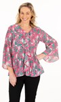 Georgette Floral Pleated Frill Top Lipstick - Gallery Image 2