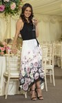 Border Floral Printed Dress Ivory/Yellow/Pink - Gallery Image 1