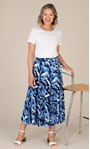 Anna Rose Floral Printed Skirt Blue - Gallery Image 1