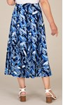 Anna Rose Floral Printed Skirt Blue - Gallery Image 4