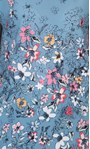 Anna Rose Textured Floral Top Blue/Pink/Multi - Gallery Image 3