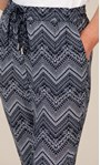 Anna Rose Pull On Printed Tapered Trousers Navy/White - Gallery Image 3