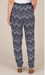 Anna Rose Pull On Printed Tapered Trousers Navy/White - Gallery Image 5