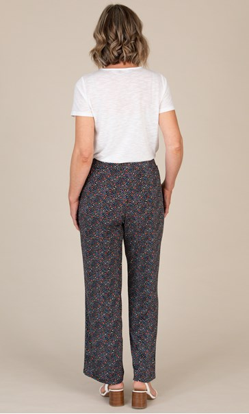 Anna Rose Wide Leg Printed Jersey Trousers
