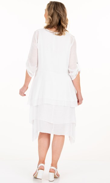 Tie Front Cover Up - White