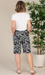 Anna Rose Linen Blend Printed Belted Shorts White/Black - Gallery Image 2