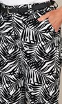 Anna Rose Linen Blend Printed Belted Shorts White/Black - Gallery Image 3