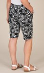 Anna Rose Linen Blend Printed Belted Shorts White/Black - Gallery Image 4