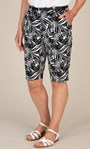 Anna Rose Linen Blend Printed Belted Shorts White/Black - Gallery Image 5