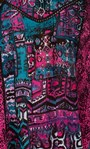 Sleeveless Panelled Embellished Print Top Magenta/Pacific Blue - Gallery Image 3