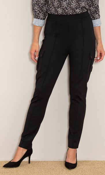 Ponte Pull On Cargo Pocket Trousers