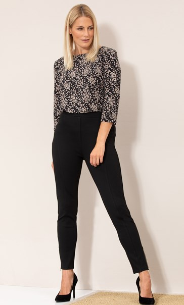 Ponte Pull On Fitted Trousers