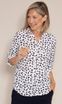 Anna Rose Animal Print Blouse With Necklace Ivory Multi - Gallery Image 1