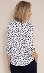 Anna Rose Animal Print Blouse With Necklace Ivory Multi - Gallery Image 2