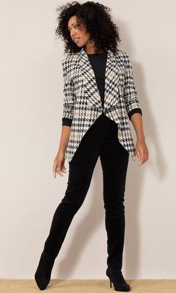 Dogtooth Open Knit Cardigan