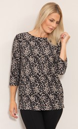 Floral Printed Jersey Tunic