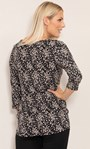 Floral Printed Jersey Tunic Black/Pink - Gallery Image 3