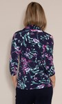 Anna Rose Floral Textured Jersey Shirt With Necklace Midnight/Multi - Gallery Image 2