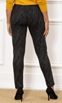 Pull On Printed Fitted Trousers Black/White - Gallery Image 3