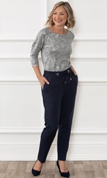 Anna Rose Spotted Straight Leg Trousers