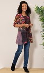 Panelled Knit Long Sleeve Tunic Pink Multi - Gallery Image 2