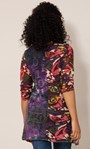 Panelled Knit Long Sleeve Tunic Pink Multi - Gallery Image 3