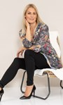 Paisley Print Knitted Cowl Neck Tunic Black/Mustard - Gallery Image 1