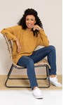 Oversized Knitted Tunic Mustard Marl - Gallery Image 1