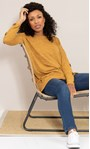 Oversized Knitted Tunic Mustard Marl - Gallery Image 4