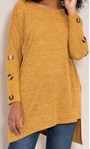 Oversized Knitted Tunic Mustard Marl - Gallery Image 5