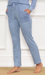 Wide Leg Ribbed Joggers